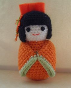 Crochet Kokeshi Doll by sophiecat91, via Flickr