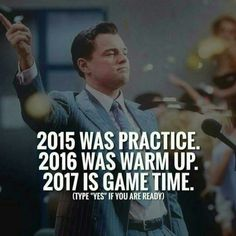 Haha new years resolution,the game plan