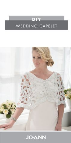 This DIY Wedding Capelet is perfect for adding over your wedding dress for your ceremony. With it's playful details, this homemade accessory is sure to showcase your unique style and personality.