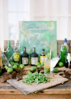 The mojito was born in Havana, Cuba and is a classic highball. Many variations of the drink abound, but this recipe calls for the five customary ingredients of mint, rum, powdered sugar, lime, and club soda. If you are throwing a Havana or Cuban theme party, plan on serving these fashionable yet traditional mojitos. http://latinfood.about.com/od/beverages/r/mojito.htm