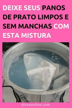 Como limpar pano de prato - Branquinho e Sem Manchas Cleaning Checklist, Cleaning Hacks, Bath For Yeast Infection, Baking Soda Bath, Natural Disinfectant, Flylady, Personal Organizer, Doing Laundry, Home Hacks