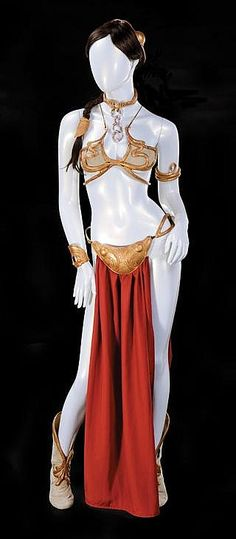 "Carrie Fisher ""Slave Leia"" costume from Star Wars: Episode VI - Return of the Jedi. / Estimated Price: $80,000 - $120,000: Hollywood Auction 74by Profiles in HistoryPlatinum HouseOctober 1, 2015, 11:00 AM PSTCalabasas, CA, USA Live Auction"