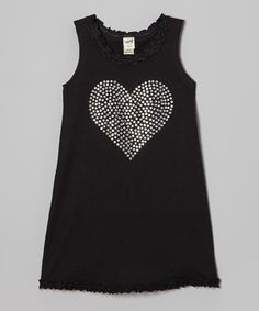 Black Rhinestone Heart Dress - Infant, Toddler & Girls #zulily #zulilyfinds