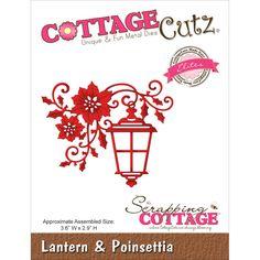 Cottage Cutz Lantern & Poinsettia die