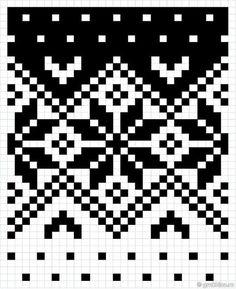 Fair Isle Knitting Patterns, Knitting Charts, Knitting Stitches, Free Knitting, Motif Fair Isle, Fair Isle Chart, Fair Isle Pattern, Baby Hats Knitting, Loom Knitting