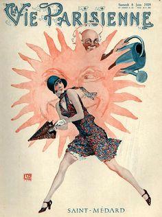 Illustration by Georges Leonnec For La Vie Parisienne 1920s