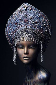 Unique handmade old Russia/gothic style headdress KOKOSHNIK