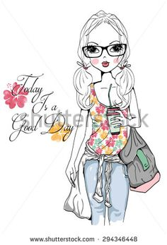 Cartoon girls pictures PNG and Vector Girl Cartoon, Cute Cartoon, Cartoon Drawings, Cute Drawings, Illustration Girl, Kids Prints, Big Eyes, Girl Pictures, Paper Dolls