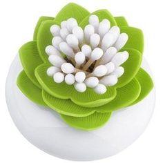 Gift World, Pojemnik na wykałaczki i pałeczki, lotos, zielono-biały