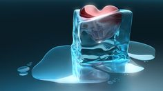 Sweet Red Heart In An Ice Cube by Jordan Carver