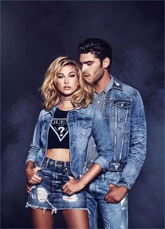 Denim is in the spotlight for GUESS Jeans' spring-summer 2017 campaign. Stylist Veronique Droulez pulls together timeless ensembles with the brand's signature distressed denim. Returning for another season with GUESS, Stefano Sala follows up a holiday outing. This time around, Stefano couples up with blonde bombshell, Hailey Baldwin. Photographer Tatiana Gerusova captures the picture-perfect pair... [Read More]