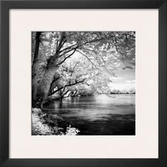 Art Paintings Mixed Media Collage: Spring On The River Square I Framed Art Print By Alan Hausenflock - 19X19 BUY IT NOW ONLY: $68.78