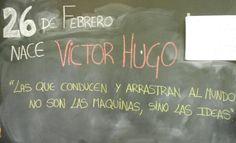 """""""El futuro tiene muchos nombres. Para los débiles es lo inalcanzable. Para los temerosos, lo desconocido. Para los valientes es la oportunidad"""" (Víctor Hugo)."""