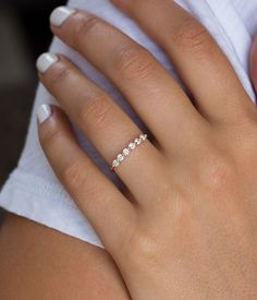 Brilliant Floating Diamond Ring - Audry Rose