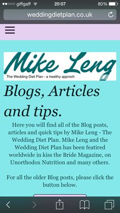 Check out the Blog for loads of tips and tricks at weddingdietplan.co.uk/blog