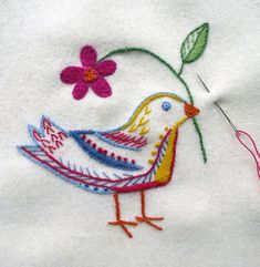 Hungarian Embroidery, Embroidery Thread, Embroidery Patterns, Floral Embroidery, Folk Fashion, Chain Stitch, Folk Art, Diy And Crafts, Floral Design