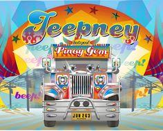 Jeepney - Pinoy Gem Jeepney, Jeep Grill, Pinoy, Filipino, Philippines, Gems, Neon Signs, Type, Rhinestones