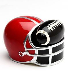 This Football & Helmet Salt & Pepper Shakers by Sugar High Social is perfect! #zulilyfinds