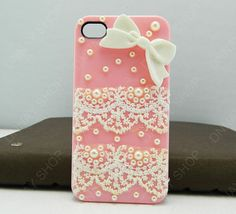 Fashion iphone 5 case Lace case white bows case by dnnayding, $19.99