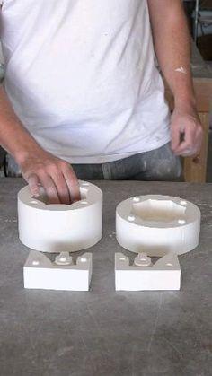 Pottery Wheel Diy, Hand Built Pottery, Pottery Making, Thrown Pottery, Ceramic Clay, Ceramic Pottery, Pottery Art, Slab Pottery, Pottery Studio
