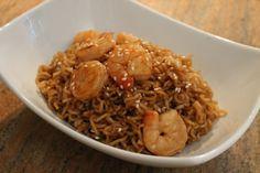 vietnamese garlic noodles with shrimp