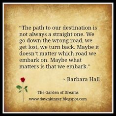 The Garden of Dreams: Meme – Inspirational Quote on Destination