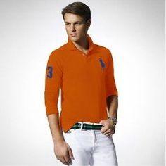 Ralph Lauren delgado Custom-Fit Big Pony Polo Beta Naranja Polo Orange eeca90c333342
