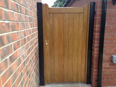 Timber Side Gate installed at the side of a property in Cottingham by Swan Gates Tor Design, Gate Design, Timber Gates, Side Gates, East Yorkshire, Door Stop, Fences, Tall Cabinet Storage, Doors