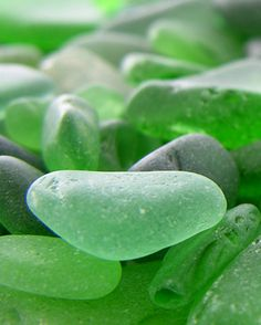 Green sea glass.
