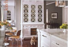 Built in buffet storage- Christopher Peacock Kitchen White, Marble, Grey, want counter tops!!!!!!!!!!!!!!!!!