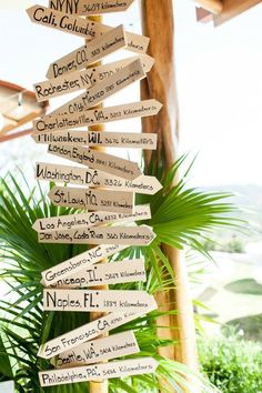 If it's a destination wedding, highlight where your guests came from: | 27 Travel-Inspired Wedding Ideas You'll Want To Steal