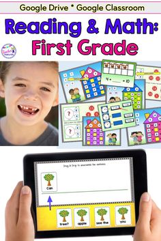 Google Classroom Elementary | Google Classroom Activities | Reading 1st grade | ELA activities | classroom technology elementary | common core standards 1st grade | This 1st grade resource for Google Classroom teaches fractions, fact families, telling time, base ten, number bonds and sentence building. #GoogleClassroom #NoPrep #1stGrade #FirstGrade #2ndGrade #TeacherFeatures #digital #technologyintheclassroom #factfamilies #MathCenters #BTSactivities
