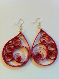 倫☜♥☞倫 Handmade Quilled Earrings