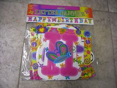 ! Paper Happy Hirthday Letters Banner Assorted Color 6.74 Feet Long  G59