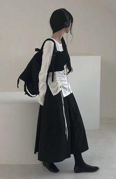 Japanese Fashion, Korean Fashion, Modest Fashion, Fashion Outfits, Fasion, Ulzzang, Tokyo Fashion, Alternative Outfits, Dark Fashion