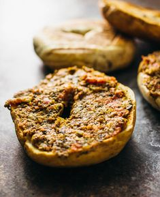 If you love the combination of olives, capers, and anchovies, you'll go crazy over these sun-dried tomato tapenade bagels for breakfast!