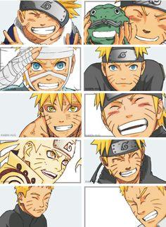Evolution of Naruto Uzumaki Naruto Shippuden Sasuke, Anime Naruto, Gaara, Manga Anime, Naruto Und Sasuke, Naruto Fan Art, Anime Meme, Kid Naruto, Sasuke Sakura