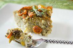 Vegan Pasta Pie with Mushrooms, Garlic and Tomatoes  Gluten-Free Goddess® Recipes
