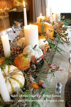 Far beyond rubies: Thanksgiving inspiration . - Far beyond rubies: Thanksgiving inspiration … - Thanksgiving Table Settings, Thanksgiving Centerpieces, Fall Table Centerpieces, Thanksgiving Ideas, Easter Centerpiece, Centerpiece Ideas, Easter Decor, Wedding Centerpieces, Wooden Box Centerpiece