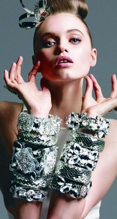 Chunky bling stacking ♥✤ | Keep the Glamour | BeStayBeautiful