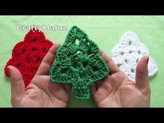 ♥CROCHET TUTORIAL   ÁRBOL DE NAVIDAD A CROCHET   como hacer un árbol de navidad adorno navideño - YouTube Xmas Crafts, Diy And Crafts, Crochet Snowflakes, Christmas Decorations, Christmas Ornaments, Crochet Videos, Crochet Squares, Diy Crochet, Crochet Flowers
