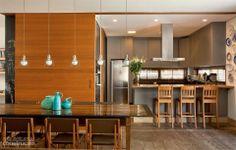 Painel Madeira, Cozinha integrada a sala