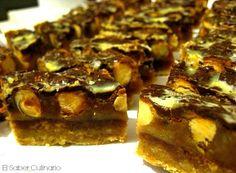 Barritas de turrón con caramelo, avellanas y chocolate | Cocinar en casa es facilisimo.com