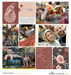 Fall Festival Digital Scrapbooking Project Life page using Autumn Stories | Journal Cards by Sahlin Studio