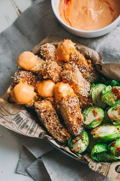 Baked Tofu Fries With Spicy Sriracha Dipping Sauce