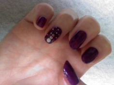 deep purple with snowman accent nails Oasis Salon and Spa Mill Hall Pa (570)726-6565