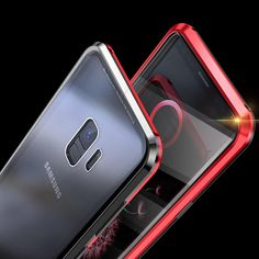 luphie 360º full body tempered glass metal magnetic adsorption case for samsung galaxy note 9/s9/s9 plus Sale - Banggood.com Samsung Accessories, Galaxy Note 9, Screen Protector, Protective Cases, Full Body, Magnets, Phone, Metal, Glass