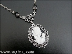 Victorian Lady Cameo Necklace Portrait Jewelry by SKAIOR Designs  http://www.skaior.com