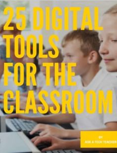 The 56-page 25 Digital Tools in the Classroom is a thorough discussion on which are the most useful tools in any K-8 classroom, classified by appropriate grade level. This includes popular digital tools such as blogs, backchannel devices, vocabulary decoding tools, avatars, digital portfolios, digital note-taking, and more.