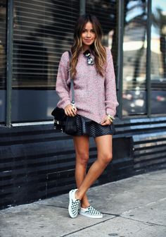 @roressclothes closet ideas #women fashion Spring Outfit Idea with Slip-on Shoes